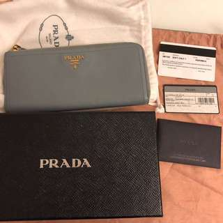 Prada wallet 意大利銀包 羊皮
