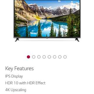 "LG 49"" ultra HD 4K LED Smart TV (49UJ632T)"