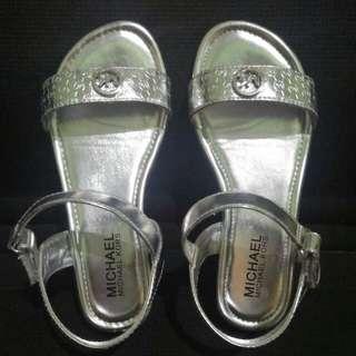 Michael Kors Viridiana Silver Girl's Sandals Original