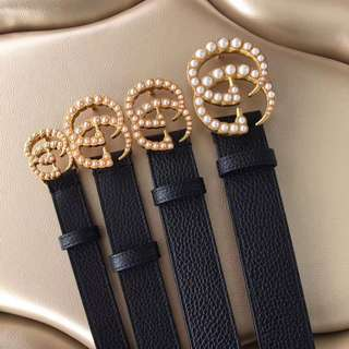 Gucci GG Belts with pearls
