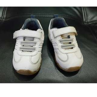 Stride Rite Prescott White Rubber Shoes