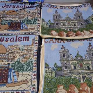 Cushion cases ( Jerusalem n Sea of Gallilee 4 pces $8