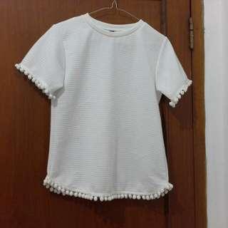 New blouse putih