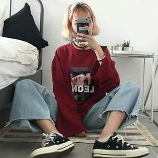 Confortable Oversized Sweat-shirt