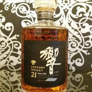 舊版金花響21威士忌無盒700ml no.5xxxx