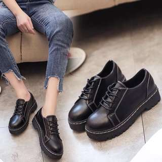 2018 single shoes Korean flat shoes British style casual shoes