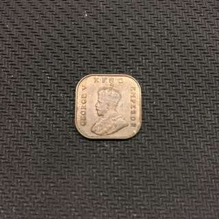 Straits 1932 George V 1/2 cent