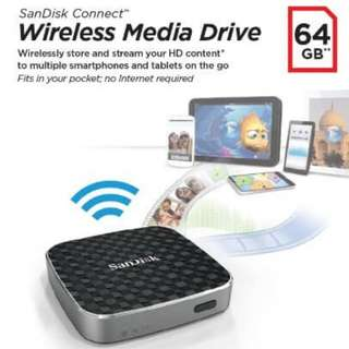 BRAND NEW SanDisk Connect 64GB Wireless Media Drive