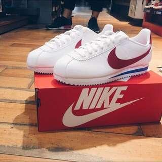 Nike Cortez Leather 阿甘 紅白藍 經典