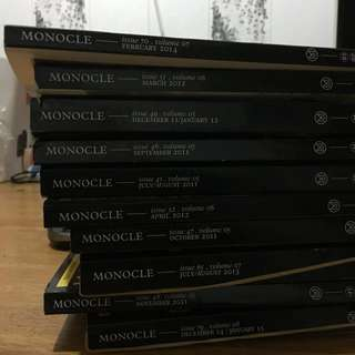 Monocle magazines 2011 to 2014