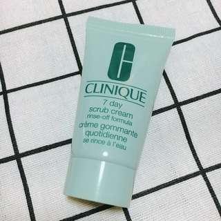 CLINIQUE 7 day scrub cream rinse-off formula 磨砂洗面膏