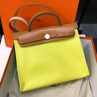 Authentic Hermes Her Bag Zip 31