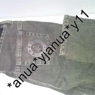 (二手品) 最後劈價 $150 真品 Agnes B SPORT b JEANS 女裝 灰色牛仔褲 原價$990