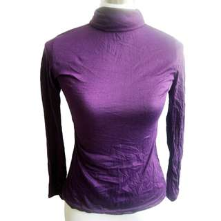 Purple Turtleneck Top