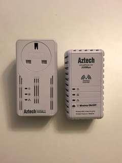 Aztech Homeplug AV 500Mbps and 200Mbps wireless