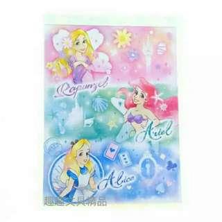 日本迪士尼 愛麗絲 長髮公主 小魚仙 便條紙 記事簿