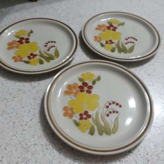 vintage Made in Japan floral Stoneware plates