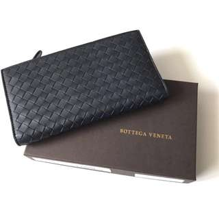 Bottega venetta wallet navy