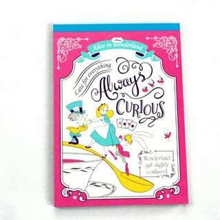 日本迪士尼Disney 愛麗絲 記事簿 便條紙