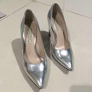 Charles & keith silver heels
