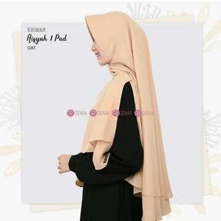 Hijab khimar 2 layer dengan pet antem