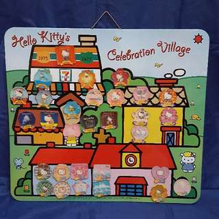 7-11 Hello Kitty Celebration Village 磁石板連 Kitty  磁貼