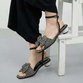 Mada Heels Bymay BLACK-WHITE