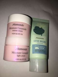 AUTHENTIC MAMONDE MOISTURIZER AND FOAM CLEANSER