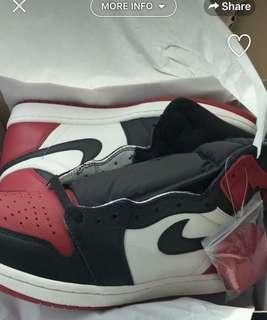 Jordan Bred Toes 1's men's size 11