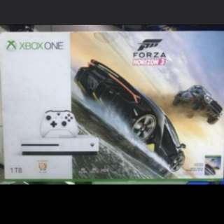 Xbox One Slim 1TB Forza Horizon 3 Bundle White Edition Brand New Sealed with extra controller