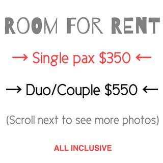 Yishun common room for rent for single or couple