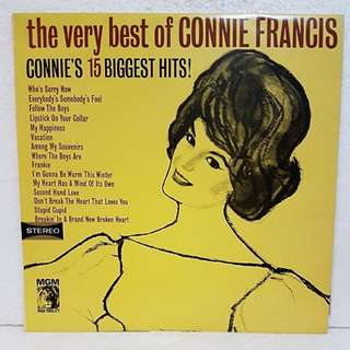The Very Best Of Connie Francis Vinyl Record