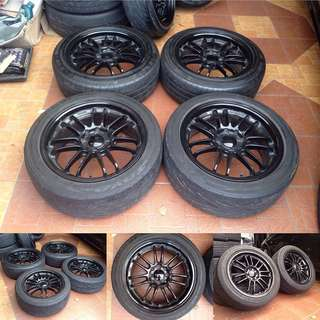 Re30 black 16x7jj pcd100/114.3x4h