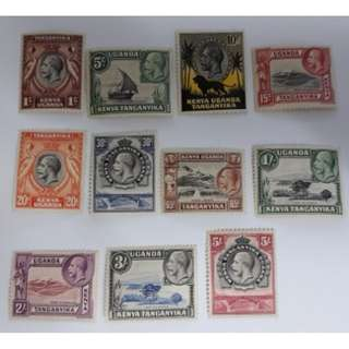 1935 Kenya Uganda & Tanganyika KG V Definitive (Part Set) MH