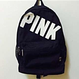 victoria's secret PINK 黑色後背包
