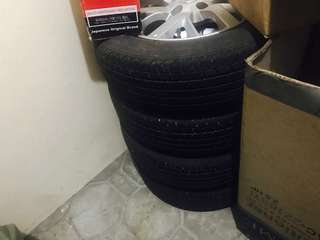 Nissan Almera 1.5VL rims and tires set