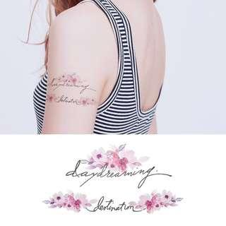 BN Instock Temporary Tattoo Temp Tattoo Flowers Floral