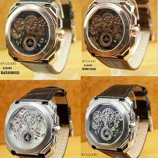New...!!! #Bulgary Watch Kualitas Semi Premium Chrono Aktif  Diameter:4,5cm  Warna: ~Black Rossgold ~Brown Rossgold ~Black Grey ~Black Silver.
