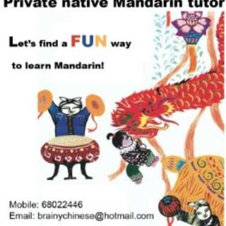 Experienced native Mandarin tutor