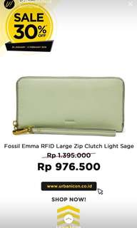 Fossil Wallet (green)