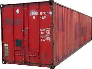 20ft Red Container van