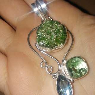 New titanium druzy gemstone pendant