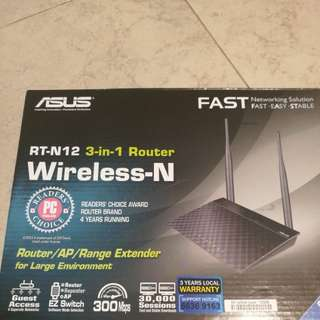 Asus Router RT-N12 with box