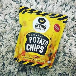 新加坡超夯零食 鹹蛋洋芋片 Irvins Salted Egg Potato Chips (大包)