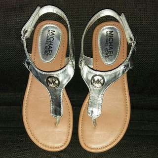 Michael Kors Lil Marcella Silver Sandals Original
