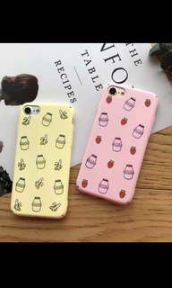 ✨cute korean milk phone case✨