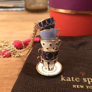 Kate Spade 茶杯頸鍊 (全新)