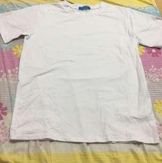 白色淨色衫