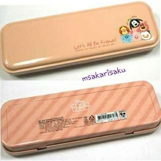 Tsum Tsum 鐵筆盒 (粉橙色)