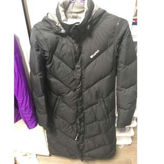 Used Burton long down jacket cost sz XS